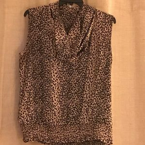 Michael Kors Leopard Spot Sleeveless Top 1X